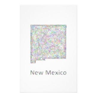 New Mexico map 14 Cm X 21.5 Cm Flyer