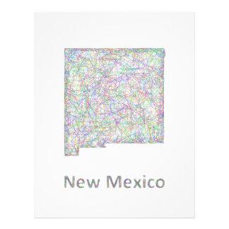 New Mexico map 21.5 Cm X 28 Cm Flyer
