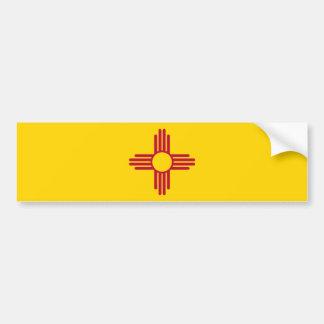 New Mexico/Mexican State Flag (Zia), United States Bumper Sticker