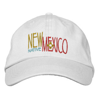 New Mexico Native Embroidered Baseball Caps