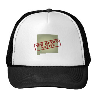 New Mexico Native Stamped on Map Mesh Hats