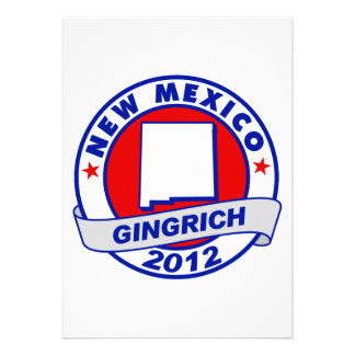 New Mexico Newt Gingrich Personalized Invitation