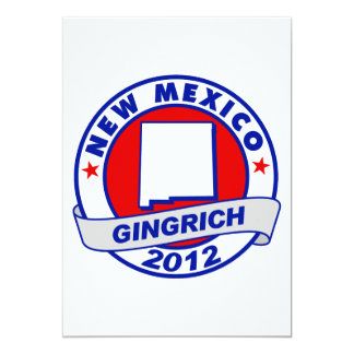 """New Mexico Newt Gingrich 5"""" X 7"""" Invitation Card"""