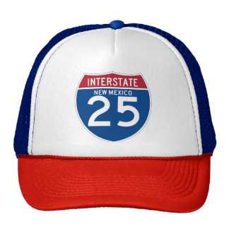 New Mexico NM I-25 Interstate Highway Shield - Cap
