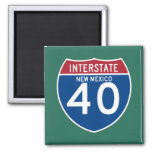 New Mexico NM I-40 Interstate Highway Shield - Square Magnet