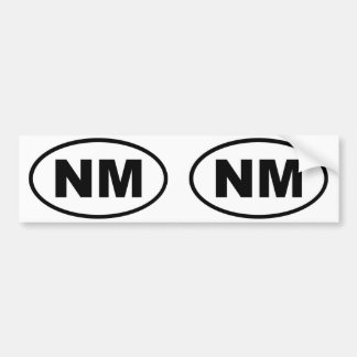 New Mexico NM oval Bumper Sticker