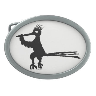 New Mexico Petroglyph Road Runner Belt Buckles