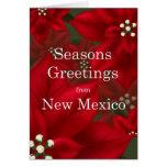 New Mexico Poinsettia Seasons Greetings Christmas