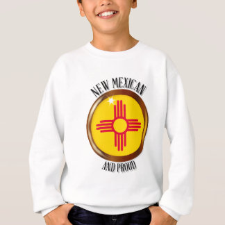 New Mexico Proud Flag Button Sweatshirt