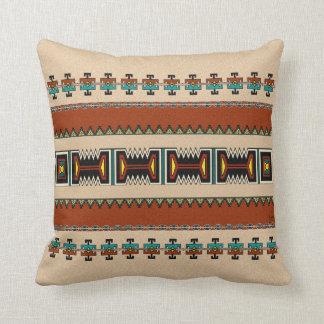 New Mexico Pueblo Design Throw Pillow