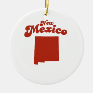 NEW MEXICO Red State Round Ceramic Decoration