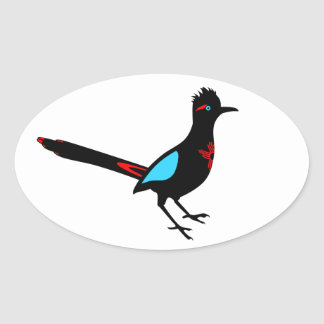 New Mexico Road Runner Oval Sticker