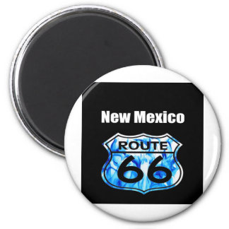new mexico route 66 6 cm round magnet
