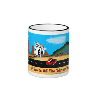 New Mexico - Route 66 Panorama Coffee Mugs
