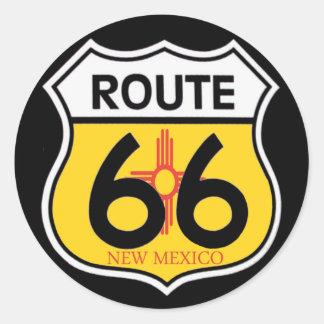 New Mexico Route 66 Shield Classic Round Sticker
