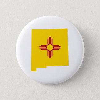 New Mexico Shape 6 Cm Round Badge