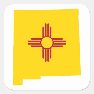New Mexico Shape Square Sticker