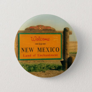 New Mexico Sign 6 Cm Round Badge