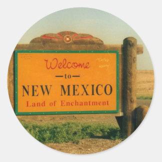 New Mexico Sign Classic Round Sticker