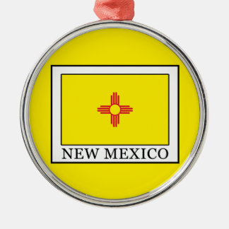 New Mexico Silver-Colored Round Decoration