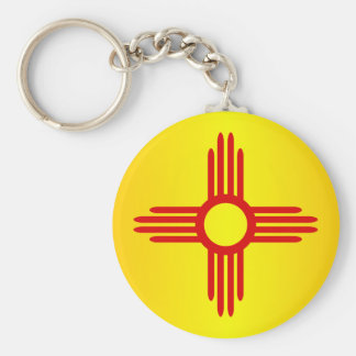 New Mexico (SP) Basic Round Button Key Ring