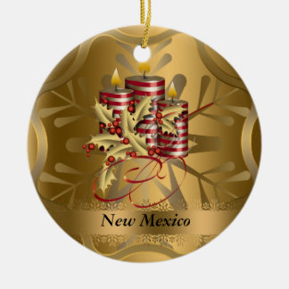 New Mexico State Christmas Ornament