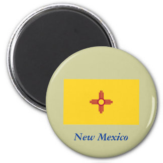 New Mexico State Flag 6 Cm Round Magnet