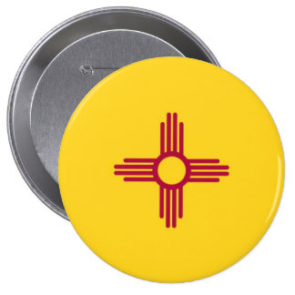 New Mexico State Flag 10 Cm Round Badge