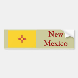 New Mexico State Flag Bumper Stickers
