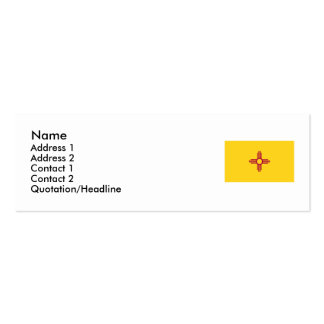 New Mexico State Flag Pack Of Skinny Business Cards
