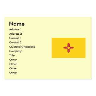 New Mexico State Flag Business Card Template