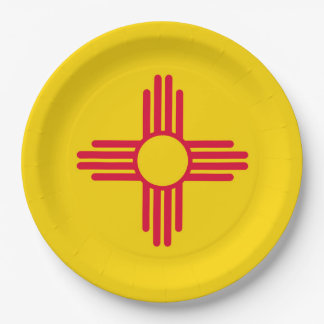New Mexico State Flag Design Paper Plate