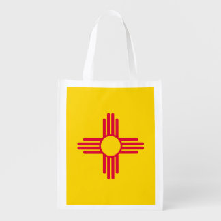New Mexico State Flag Design Reusable Grocery Bag