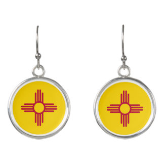 New Mexico State Flag Earrings