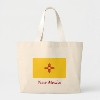 New Mexico State Flag Large Tote Bag