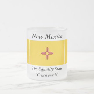 New Mexico State Flag Frosted Glass Mug