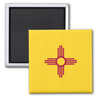 New Mexico State Flag Square Magnet