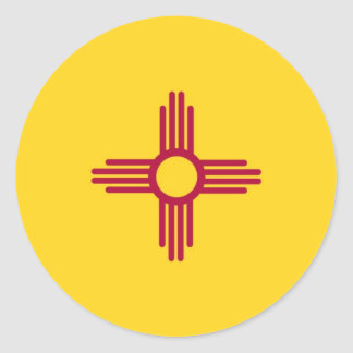 New Mexico State Flag Round Sticker