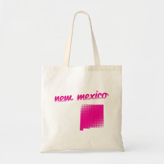 New Mexico state in pink Tote Bag