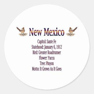 New Mexico State Info Sticker