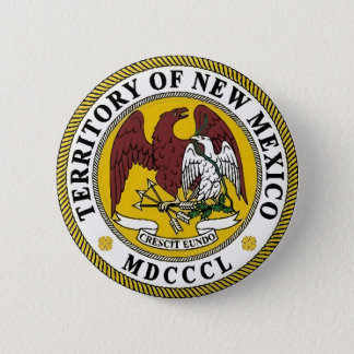 New Mexico State Seal 6 Cm Round Badge
