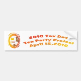 New Mexico Tax Day Tea Party Protest Bumper Sticker