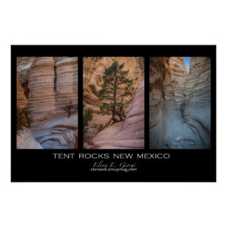 New Mexico Tent Rocks Poster