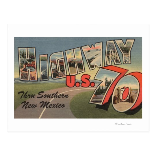 New Mexico - U.S. Highway 70 - Large Letter Postcard