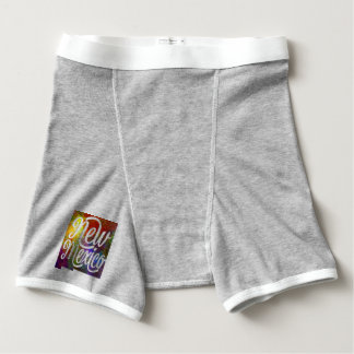 New Mexico U.S. State in watercolor text cut out Boxer Briefs