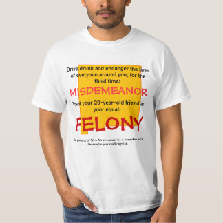 New Mexico Underage Drinking Laws T-Shirt