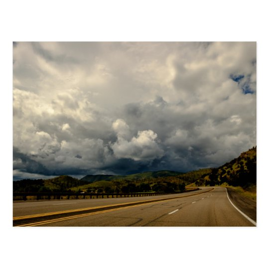 New Mexico USA Storm Ahead Postcard