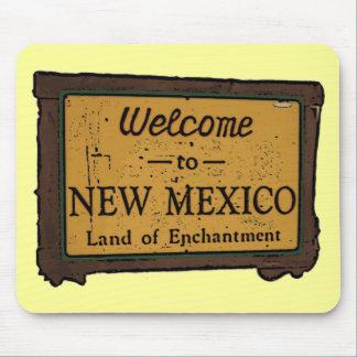 New Mexico welcome sign souvenir mousepad