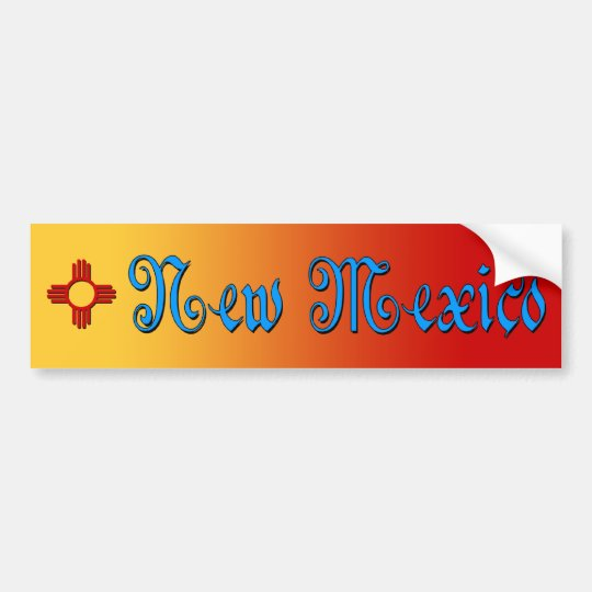 New Mexico & Zia Bumper Sticker