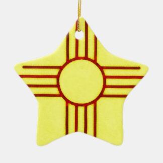 New Mexico Zia Christmas Ornament